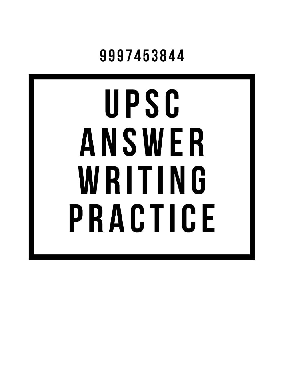 UPSC answer writing