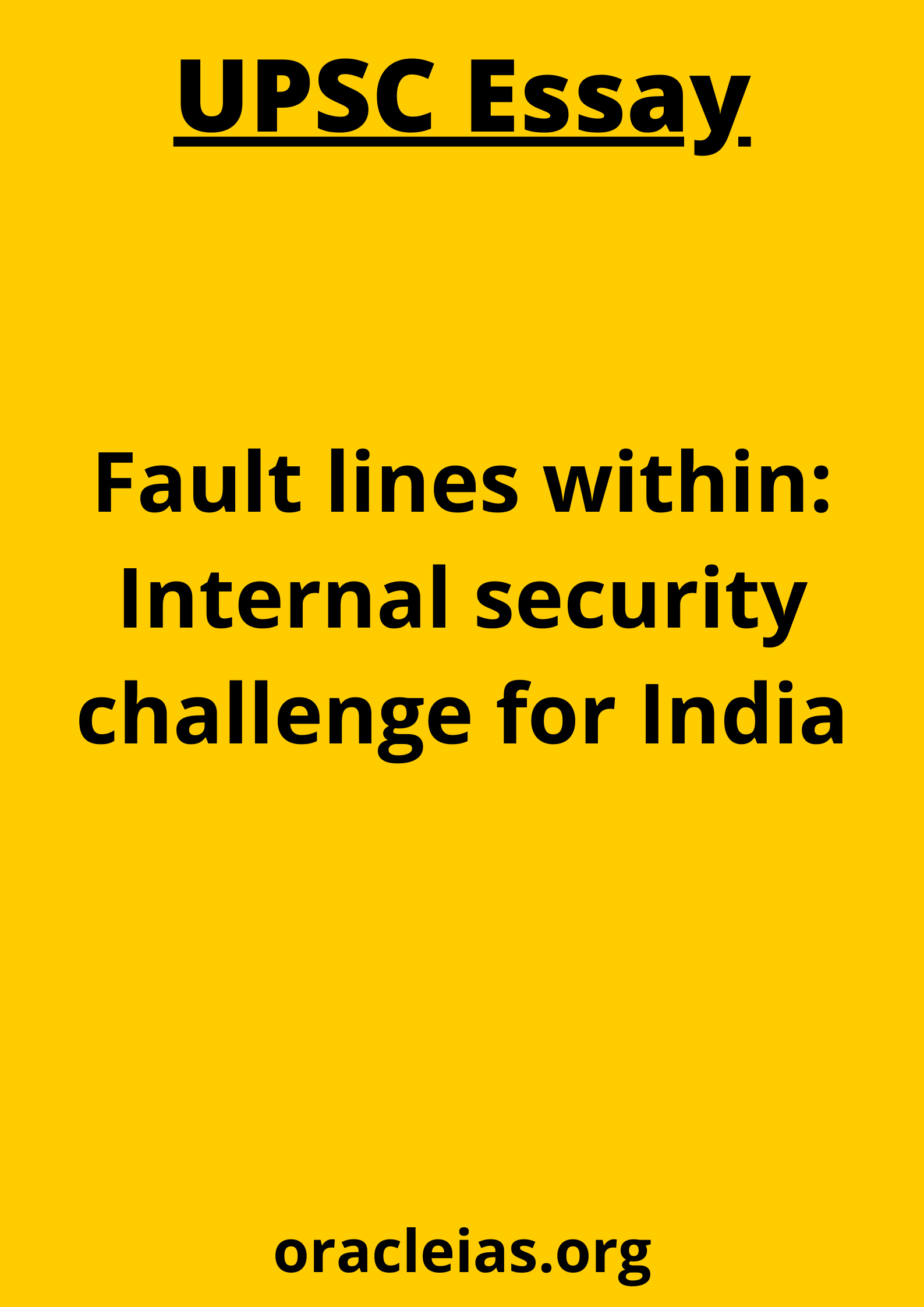 Internal security challenge for India